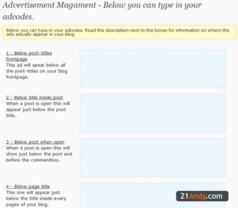 Advertisement Management
