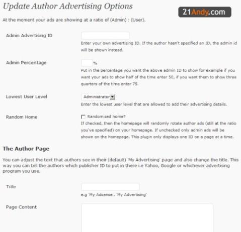 Author Advertising Plugin